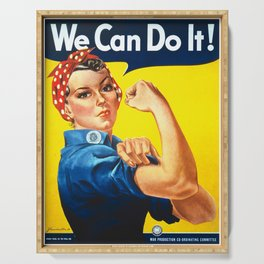 We can do it!, vintage poster, classic poster Serving Tray