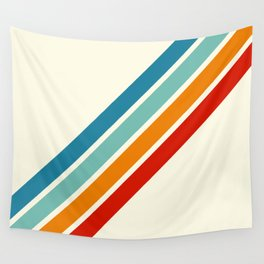 Alator - Classic 70s Retro Summer Stripes Wall Tapestry