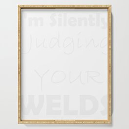 Funny Welding Gift for Welder Father  Print Serving Tray