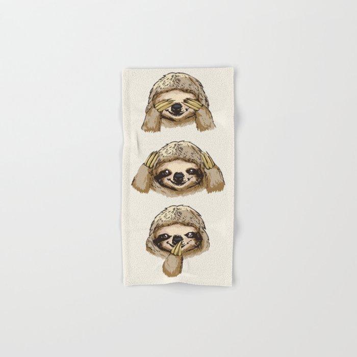 No Evil Sloth Hand & Bath Towel