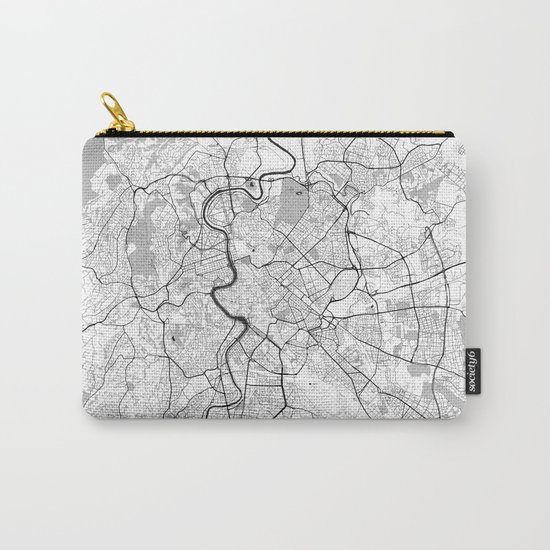 Rome City Map Gray Carry-All Pouch
