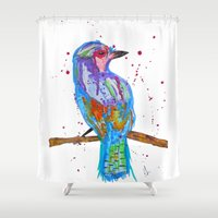coco Shower Curtains featuring coco by Laurie Art Gallery