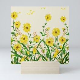 Yellow Wildflowers Mini Art Print
