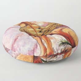 The Winged Sphinx of Naxos Floor Pillow