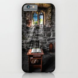 Chapel Light on Bible iPhone Case