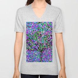 Trees Oil Painting Colorburst Unisex V-Neck