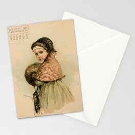 Scandinavian Girl Maud Humphrey Stationery Cards