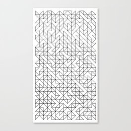 BW TRIANGLE PATTERN Canvas Print