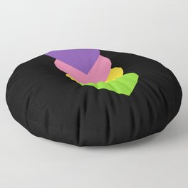 Lesbian in Shapes Floor Pillow