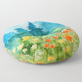 Spring scenery #1 Floor Pillow