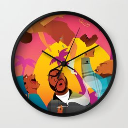 Knocked The Eff Out Wall Clock