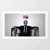house of cards Art Prints featuring House of Cards by dzn_art