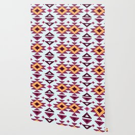 Pink And Brown Pattern Native Aztec Wallpaper
