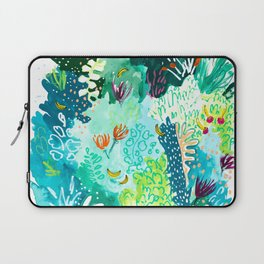 Twice Last Wednesday: Abstract Jungle Botanical Painting Laptop Sleeve