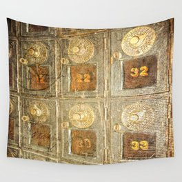 Vintage Post Office Boxes Wall Tapestry