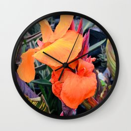 Tropical Island Flowers In Romantic Paradise Wall Clock