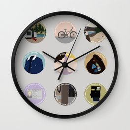 PHILKAS: A MINIMALIST LOVE STORY Wall Clock