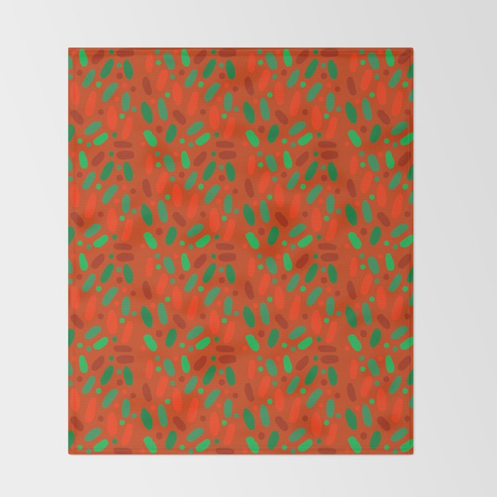 mike and ike christmas colors candy throw blanket