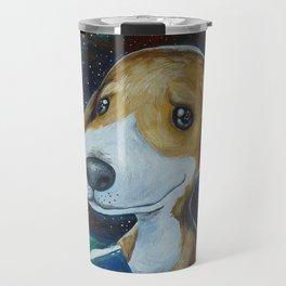 Dog Reading Travel Mug