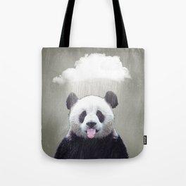 Panda Rain Tote Bag
