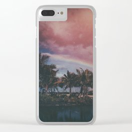 Vintage Hawaii Morning Clear iPhone Case