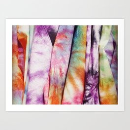 Rainbow fabric Art Print