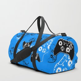 Video Game in Blue Duffle Bag