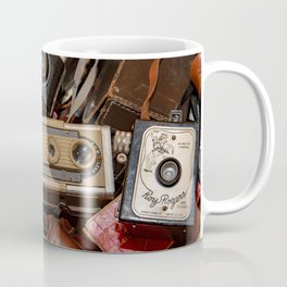 A Mess Of Old Cameras Coffee Mug