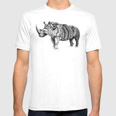 Rhino  Mens Fitted Tee MEDIUM White