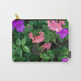Pink and purple garden Carry-All Pouch