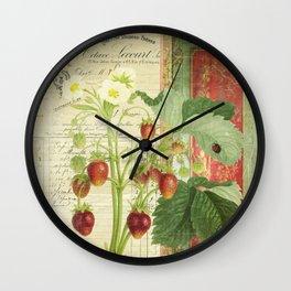 Fraises à la Crème Wall Clock
