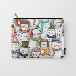 Happy Snowmen Pattern Carry-All Pouch