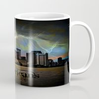 new orleans Mugs featuring New Orleans by Kelly King
