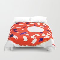 doughnut Duvet Covers featuring Doughnut by Myles Hunt