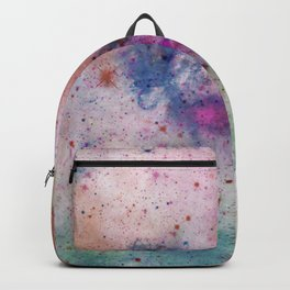 Star Gazer - Abstract, space, ink painting Backpack
