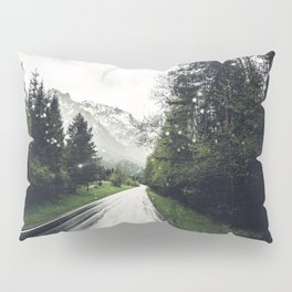 Down the Road - Mountains, Forest, Austria Pillow Sham
