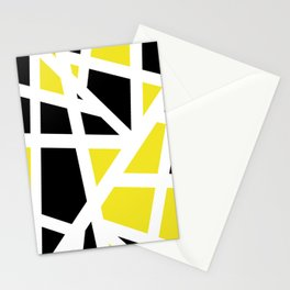Abstract Interstate  Roadways Black & Yellow Color Stationery Cards