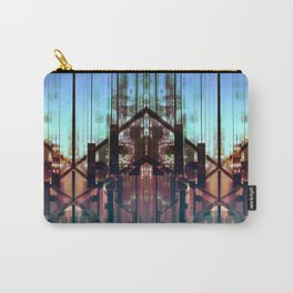 Flipped On - Abstract Geometry Photo Carry-All Pouch