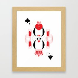 King and Queen of Hearts Framed Art Print