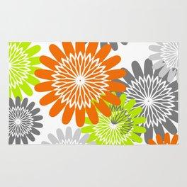 Warm Flower Stencils Rug