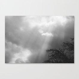 Dramatic Sunbeams #blackwhite Canvas Print