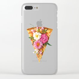 FLORAL PIZZA Clear iPhone Case