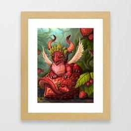 Strawberry Dragon Framed Art Print