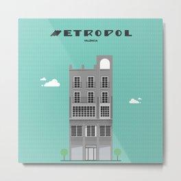 CINE METROPOL Metal Print