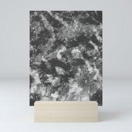 Black - White Abstract Texture Mini Art Print