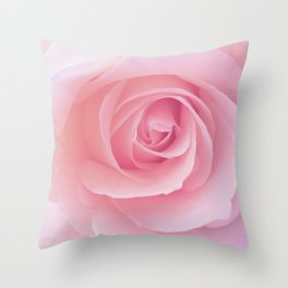 Flower | Pink Rose |  Photography | Nature | Spring | Summer Throw Pillow