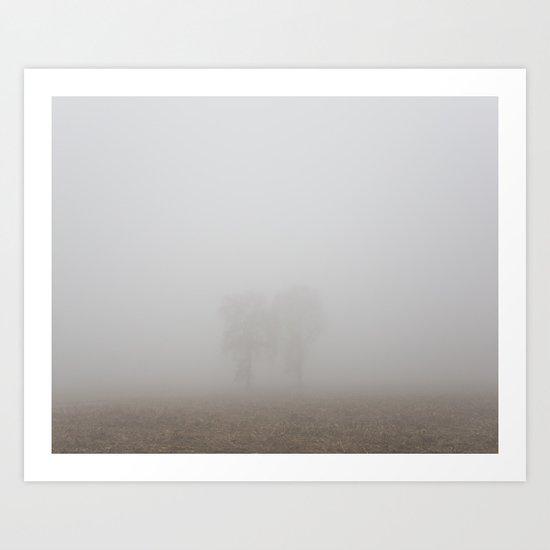 Foggy Trees 2 Art Print