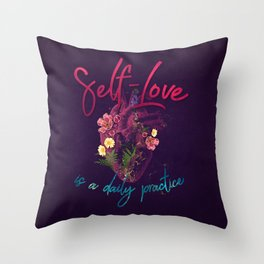 Kelly-Ann Maddox Collection :: Self-Love (Illustrated) Throw Pillow