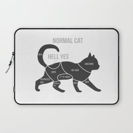 Funny Anatomy Of A Cat Kitty Ragdoll Persian Gift Laptop Sleeve