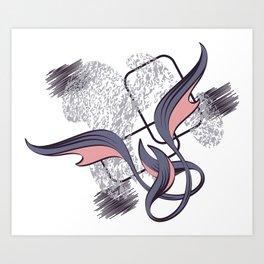 Cartouche M. Art Print
